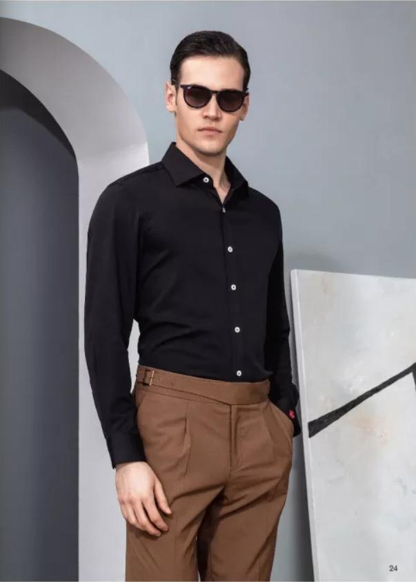 黑色商务衬衫