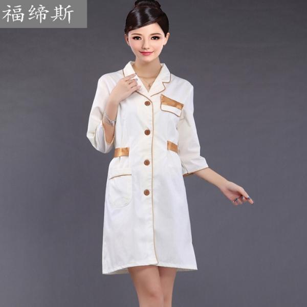 夏装新款美容师工作服 医院护士服长袖 连衣裙