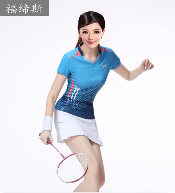 男女新款羽毛球服装情侣套装 排球服队服网球服运动服