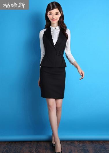 职业女装套装气质修身长袖套裙ol正装马甲西装面试工作服