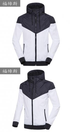 秋季薄款连帽开衫运动夹克男士跑步防风外套户外休闲外套