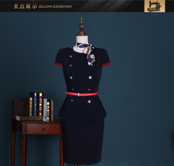 修身空姐制服OL职业装女装套裙套装夏季女工作服职业