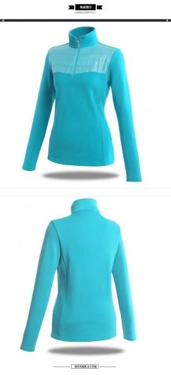 女士高尔夫女装韩版长袖T恤厚款纯棉保暧