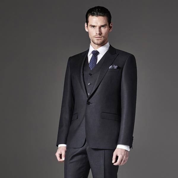 西服套装男士商务正装职业西装修身伴郎新郎结婚礼服夏季定制