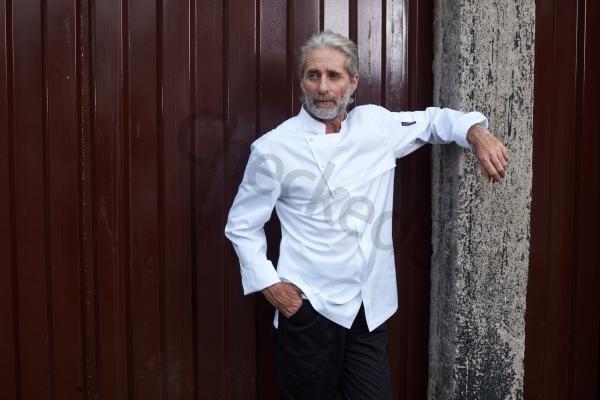 高端定制厨师服系列秋冬新品 风衣式长袖厨师服 黑色、白色、浅军绿