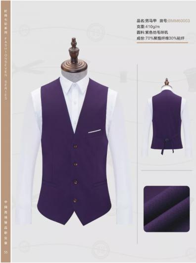 紫色仿毛哗叽男马夹