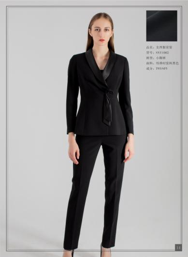 黑色时装女西服