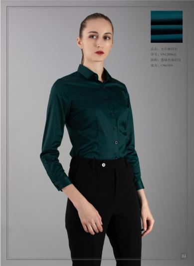 墨绿色女衬衣