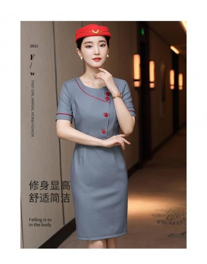 惠州空姐制服航空职业装连衣裙女夏