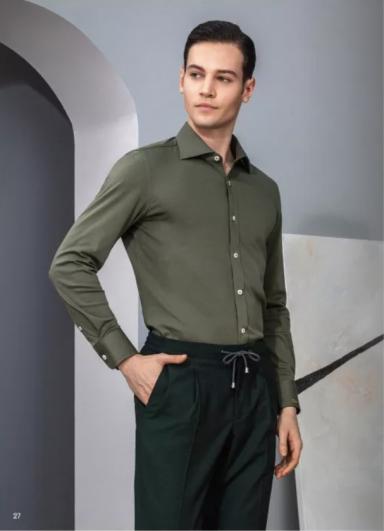 青绿色商务衬衫衬衫